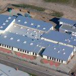 Elsterwerkstätten Jüterbog Industriedach - die gesamte Dachlandschaft aus der Vogelperspektive