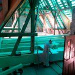Heinrichstift - die erste untere neue Deckenebene entsteht
