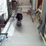 Terrassensanierung - Dampfsperre und Dämmung