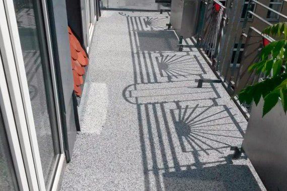 Terrassensanierung - Granitsteinfloor als Nutzschicht