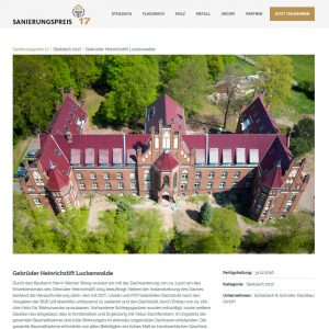 Sanierungspreis 2017 Gebrüder-Heinrich-Stift